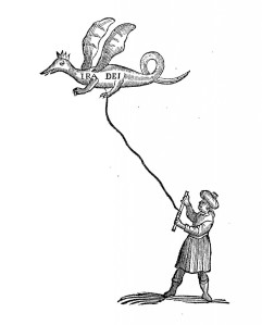 How to display a flying dragon, from Johann Kestler, Physiologia Kircheriana Experimentalis, p. 247
