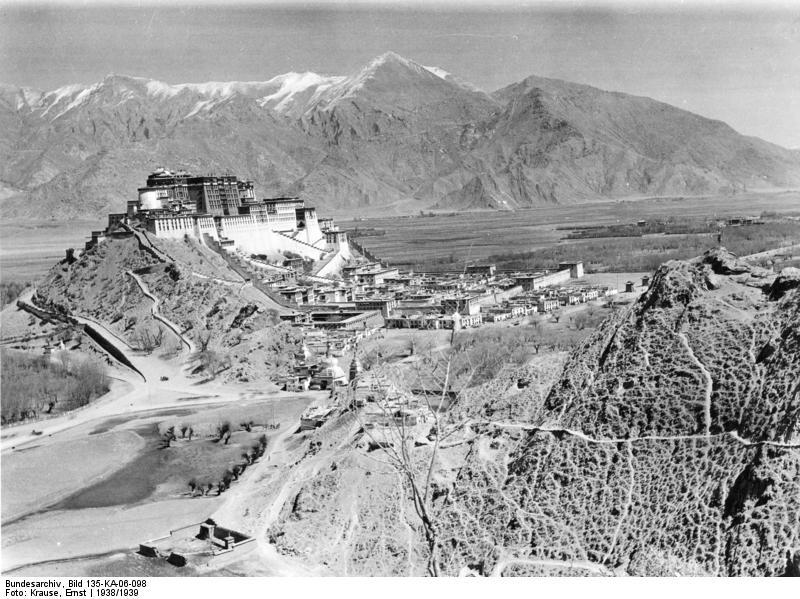 Tibetexpedition, Blick auf Lhasa und Potala