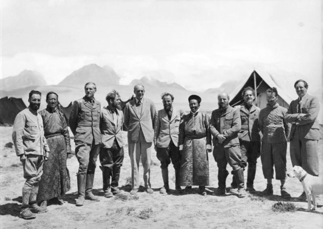 8. The entire expedition, with Sir Basil Gould