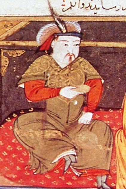 17. Hulagu_Khan14th cent, painting by Rashid al Din Hamadani