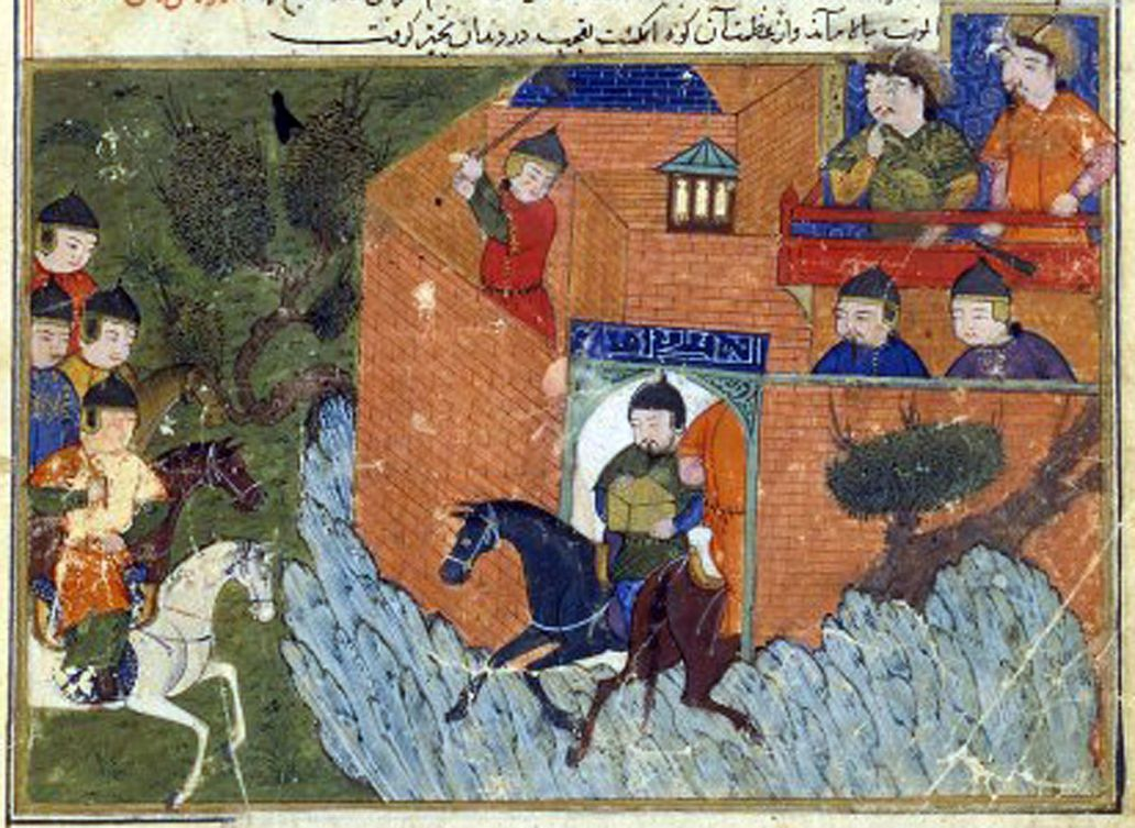 18. Siege of Alamut 1213-1214 in the Jami al-tawarikh by Rashid-al-Din Bibliothèque Nationale de France
