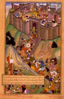 2. Assassin fortress of Alamut. Persian miniature