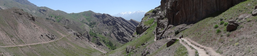 4. Panorama en route to Alamut Castle - Northwestern Iran