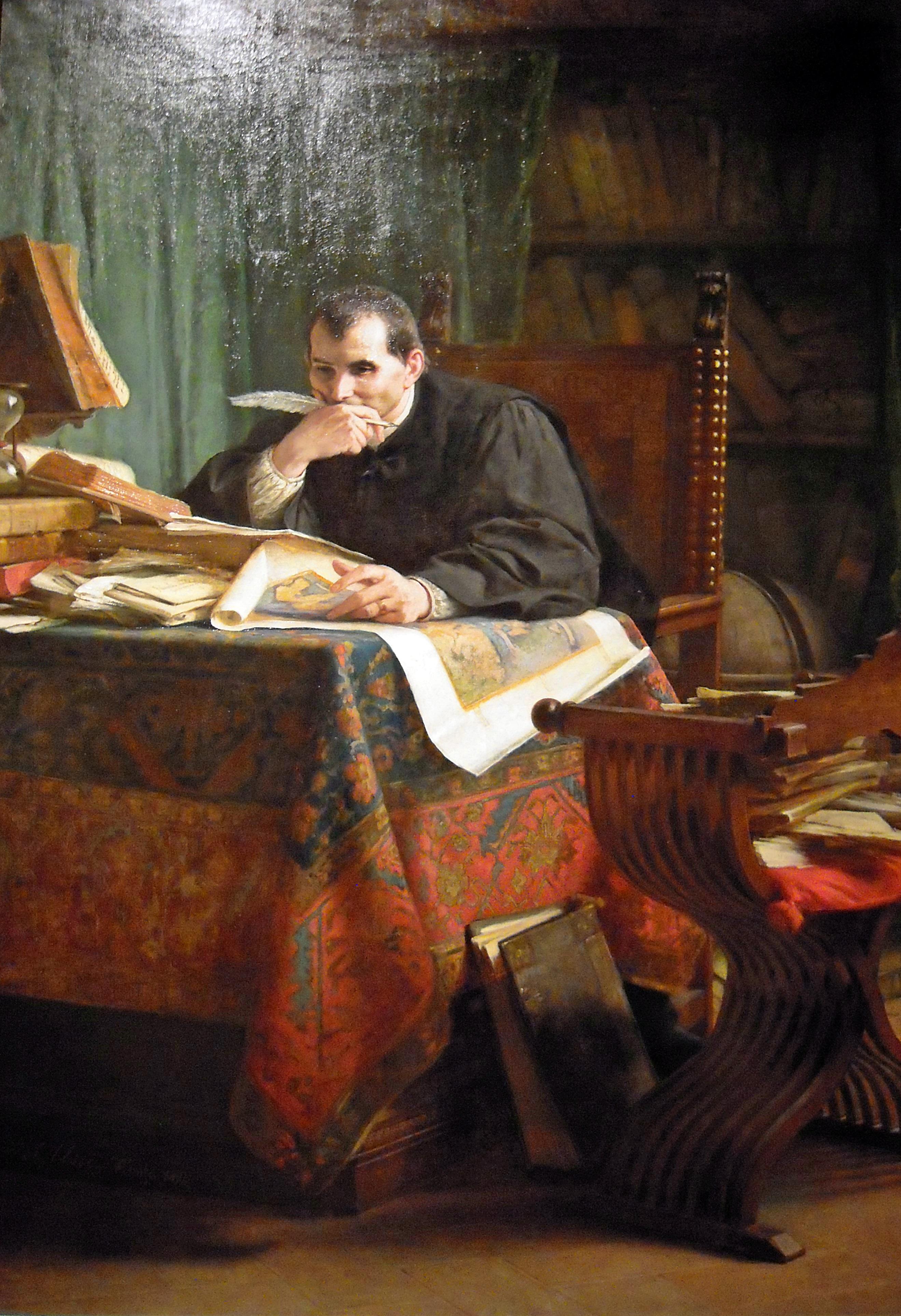 11. Niccolò Machiavelli in his study- από τον Stefano Ussisi1894-Galleria Nazionale d'Arte Moderna