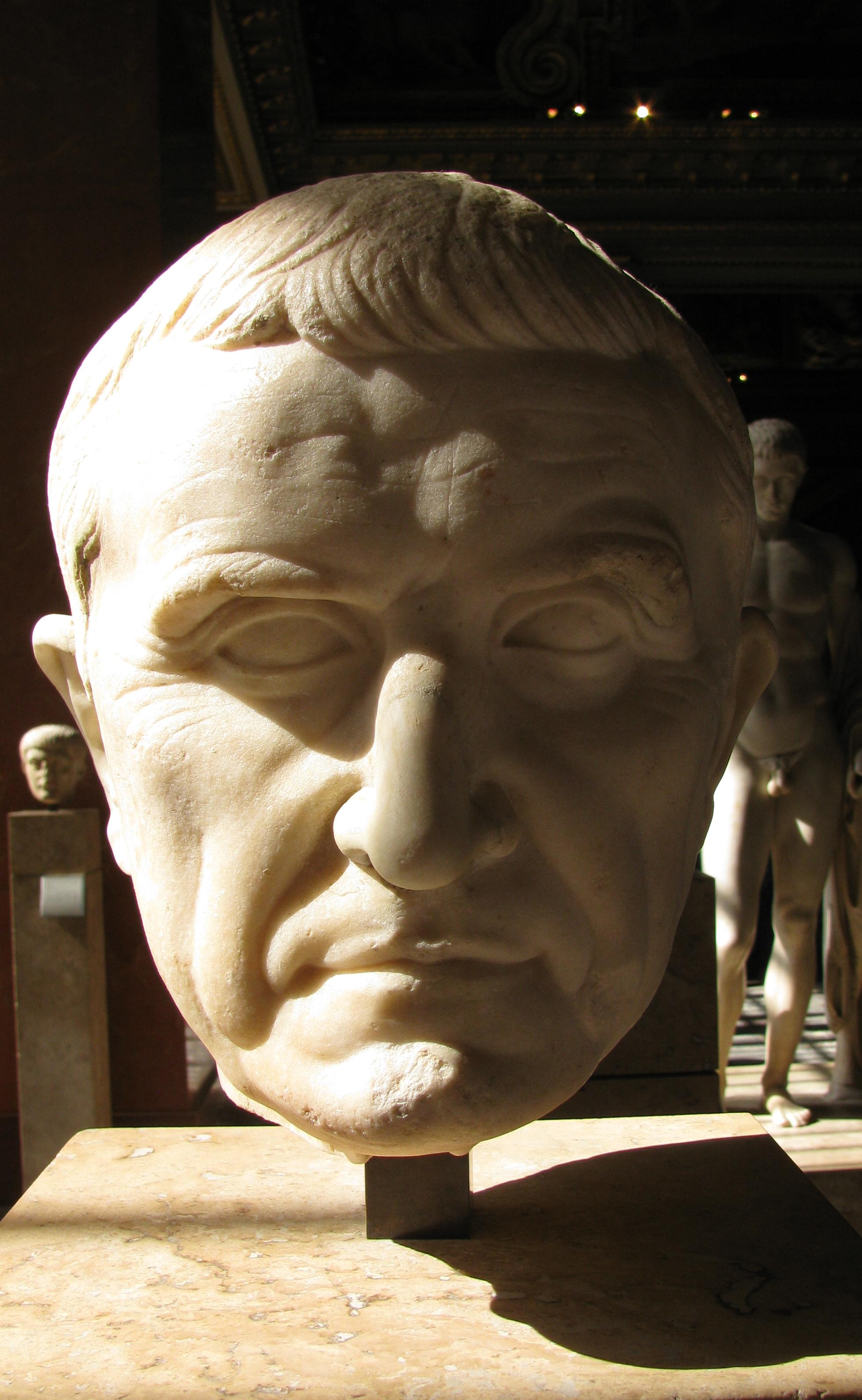19. Bust of Marcus Licinius Crassus from the Louvre, Paris.