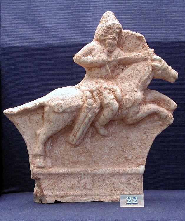 21. Ceramic plaque of a mounted archer (British Museum, London