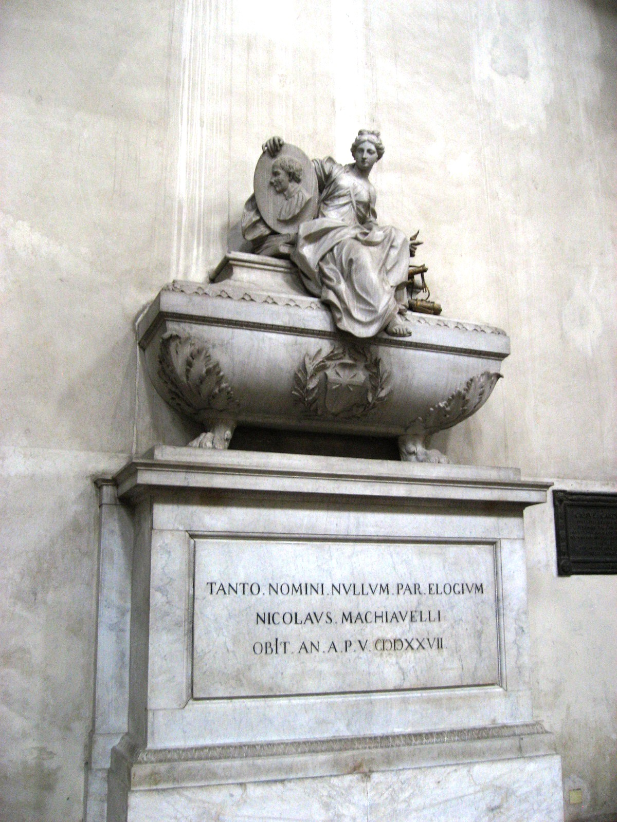 5. Tomb of Niccolò Machiavelli in the Basilica of Santa Croce in Florence