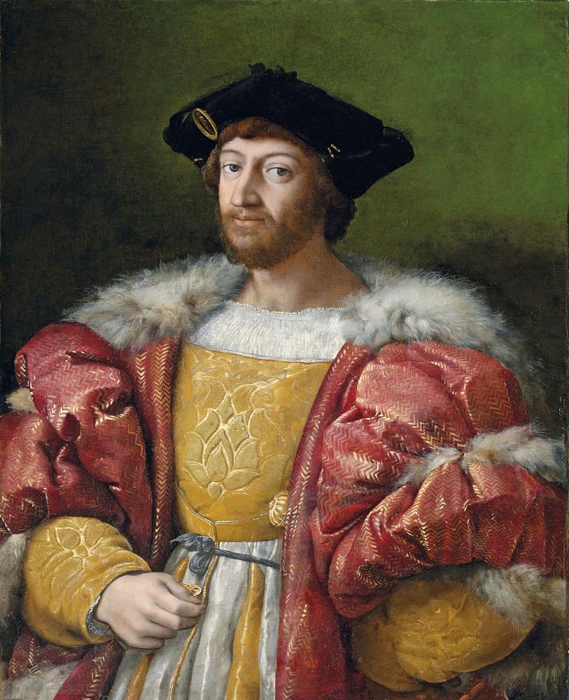 7. Portrait of Lorenzo di Medici, Duke of Urbino. (1492-1519)