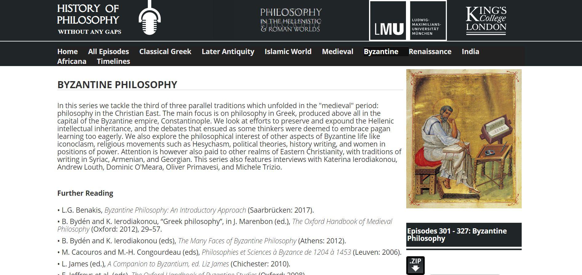 Byzantine philosophy-podcasts
